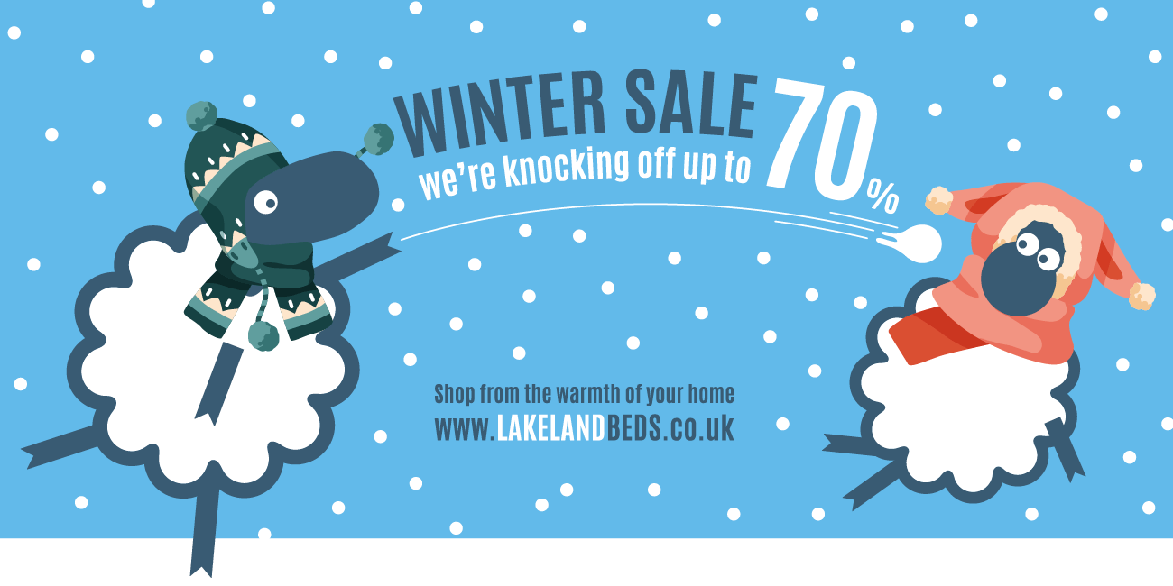 Winter Sale - Up to 70% off at lakelandbeds.co.uk